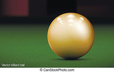 realistic billiard ball on a pool table