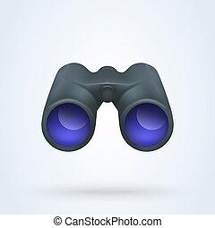 Realistic binoculars vector. illustration Isolated on white background