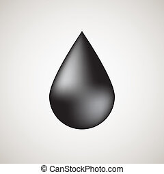 Realistic black bubble drop with light background - Black ...