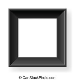 Realistic black frame. Form of the number one. Illustration...