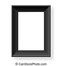 Realistic black frame. Form of the number two. Illustration on white background