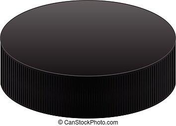 Realistic black puck
