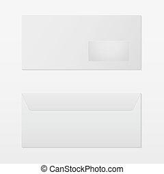 Realistic blank envelope