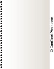 Realistic blank notebook paper