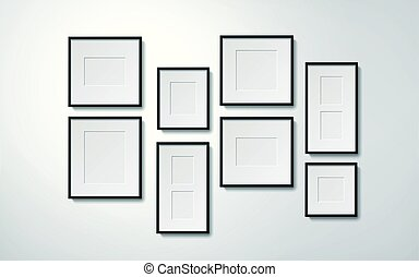 blank picture frames - Realistic blank picture frames...