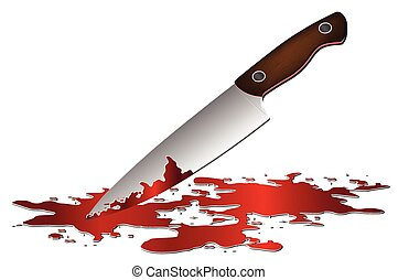 realistic bloody knife knife with blood vector vector clipart rh canstockphoto com knife with blood clipart Dagger and Heart Clip Art
