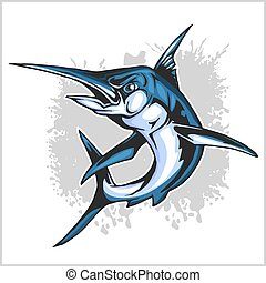 Realistic blue Marlin fish