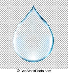 Realistic Blue Water Drop