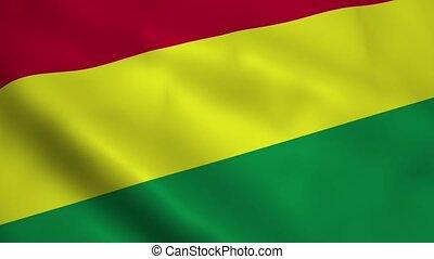 Realistic Bolivia flag