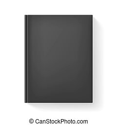 Realistic book. Illustration on white background for design.