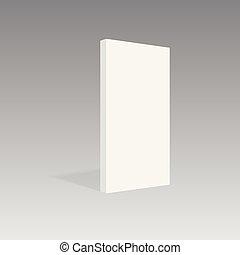 Realistic book mockup vertical standing. Vector illustration