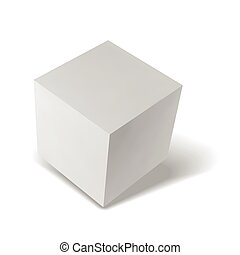 Realistic box on white background with shadow