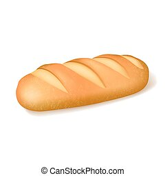Realistic Bread Isolated Image