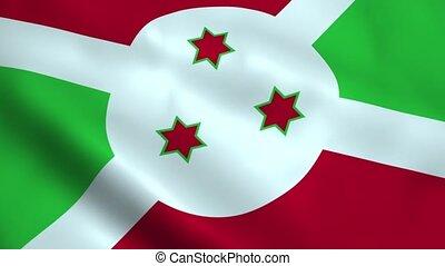 Realistic Burundi flag
