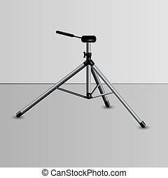 realistic camera tripod - Realistic camera tripod with ...