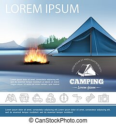 Realistic Camping Beautiful Template