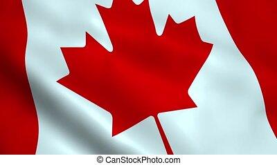 Realistic Canada flag