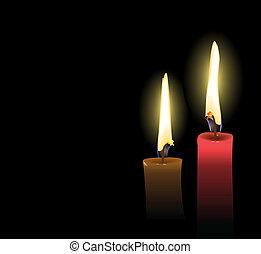 Realistic Christmas Candles - Realistic Vector Christmas...