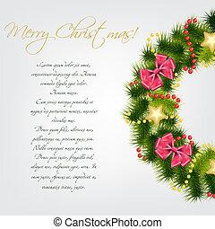 Realistic christmas wreath. vector illustration