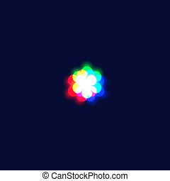 Realistic chromatic aberration character 'asterisk' from a ...