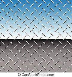Realistic Chrome 3D Diamond Plate Metal Background Vector Illustration