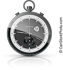 chronometer - realistic chronometer on a white background....