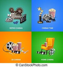 Realistic Cinema Design Concept