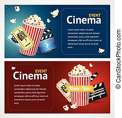 Realistic Cinema Movie Poster Template. Vector