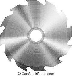 Realistic circular saw blade. Vector illustration.