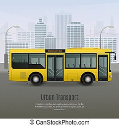 Realistic City Bus Illustration