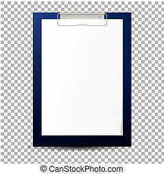 realistic clipboard with blank paper sheet . Vector mockup . Clear paper sheet on clipboard