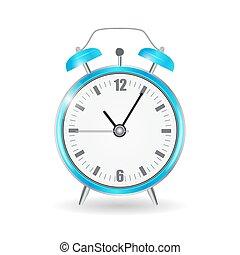 Realistic Clock Alarm Watch Vector Illustration