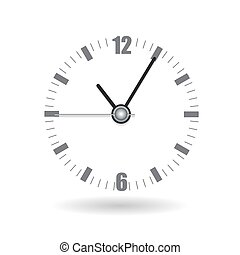 Realistic Clock Alarm Watch Vector Illustration
