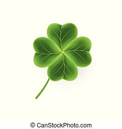 Realistic Clover leaf icon for St. Patricks Day holiday....