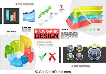 Realistic Colorful Infographic Concept