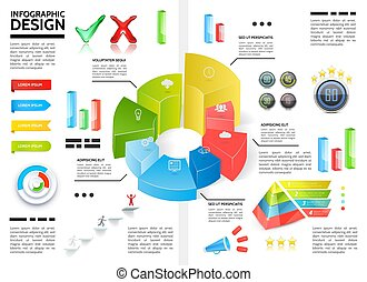 Realistic Colorful Infographic Template