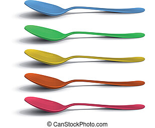 Realistic colorful spoon.