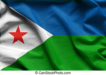 Realistic colourful background, flag of Djibouti