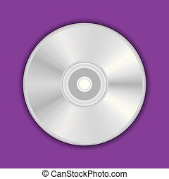 Realistic compact CD, DVD disc vector illustration