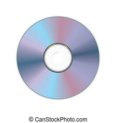 realistic compact disc - vector illustration