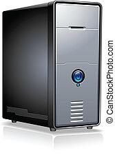 Realistic Case of Computer / Server / Workstation, vector