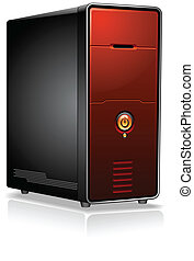 Realistic Computer Server Case