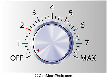 Realistic control knob with marks -volume switch