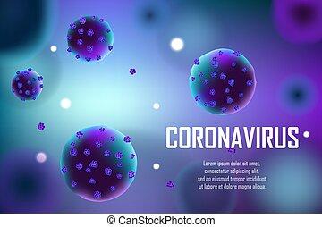 Realistic coronavirus medical outbreak background. Pandemic ...