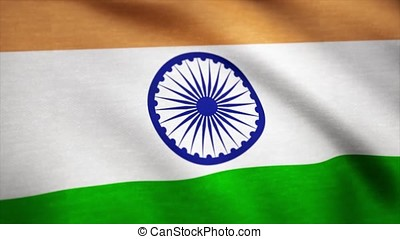 Realistic cotton flag of India as a background. India flag...
