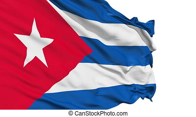 Realistic Cuba flag in the wind