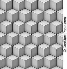 realistic cubes - Vector seamless pattern with repeating...