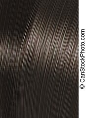 Realistic dark black straight hair texture with glossy shiny detail. Vector illustration.