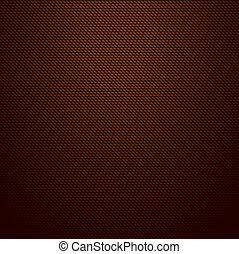 Realistic dark brown carbon background, texture. Vector
