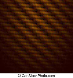Realistic dark brown carbon background, texture. Vector